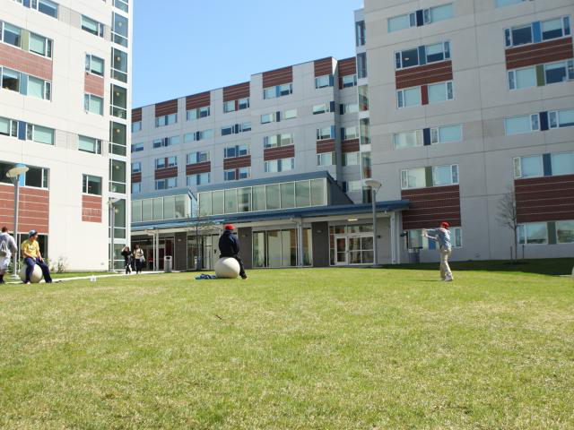 Outside of Residence Hall Building