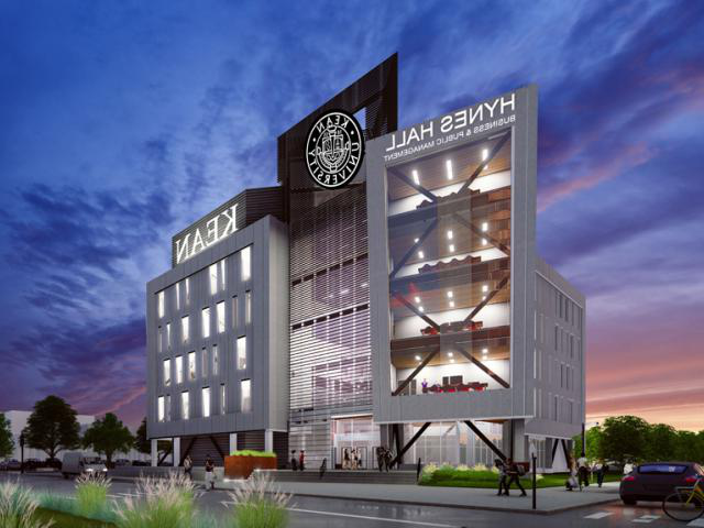 A rendering of uedbet's new Hynes Hall, currently under construction.